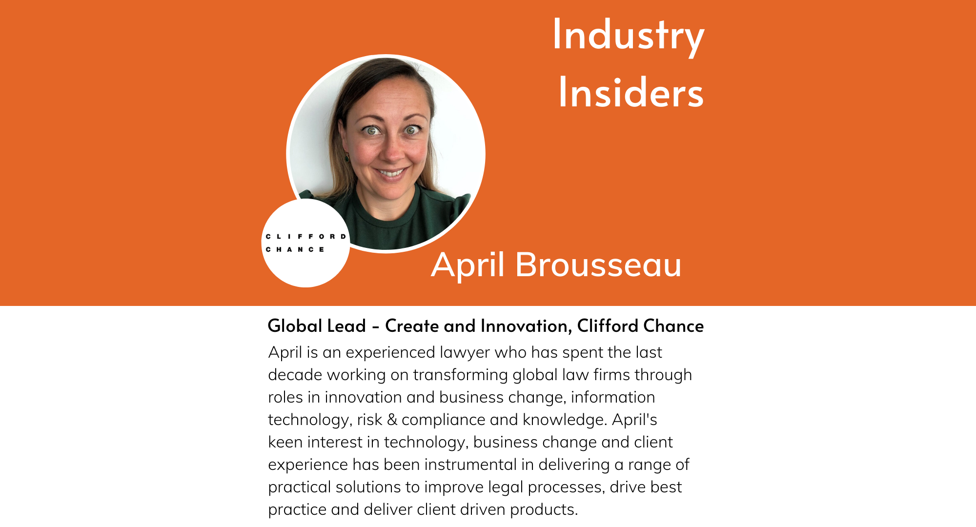 Industry Insiders - Innovating Inside a Law Firm