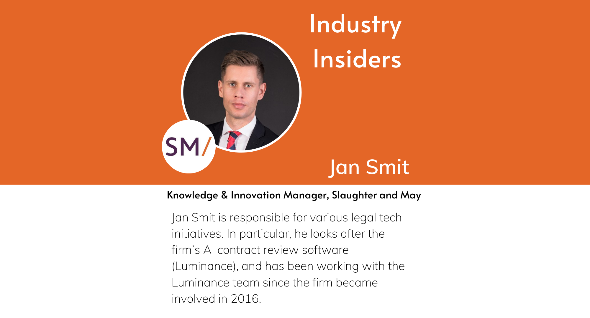 Industry Insiders - Innovation at Slaughter and May
